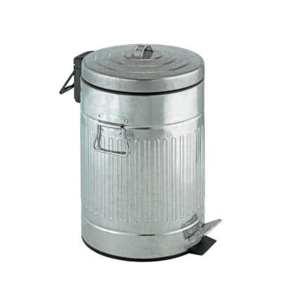 Urban 3.17 Gal. Zinc Plated Easy Close Step Can