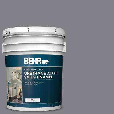 Behr 5 Gal Ae 52 Rising Smoke Urethane Alkyd Satin Enamel Interior Exterior Paint 793005 The Home Depot