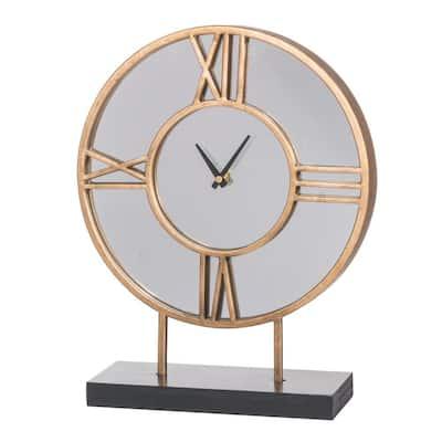 Kenzo Table Clock - Gold, Black, White