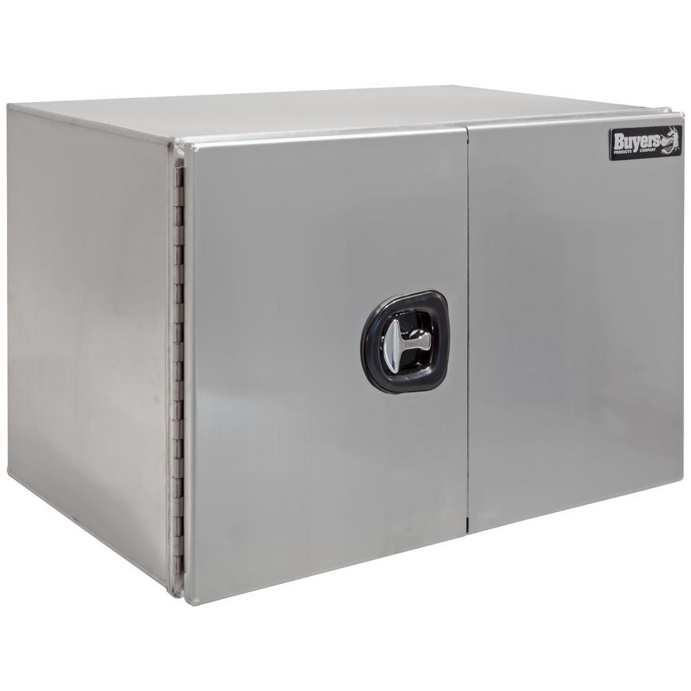 24 in. x 24 in. x 72 in. XD Smooth Aluminum Underbody Truck Tool Box with Barn Door