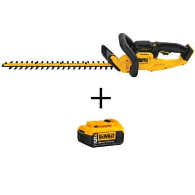 22 in. 20V MAX Lithium-Ion Cordless Hedge Trimmer (Tool Only) with Bonus 20V MAX XR Premium (1) 5.0Ah Battery