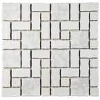 Academy White 12 in. x 12 in. Porcelain Mosaic Tile (9.79 sq. ft. / Case)