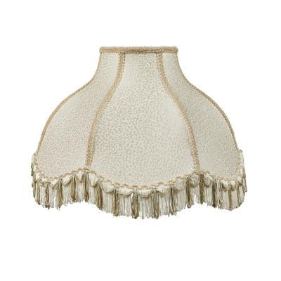 17 in. x 12 in. Off White Scallop Bell Lamp Shade