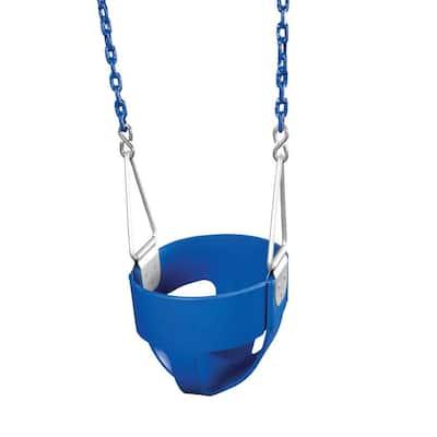 Blue Commercial Full-Bucket Swing Assembly