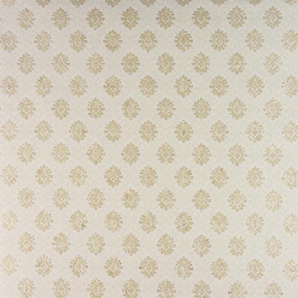 Advantage Madelyn Cream Small Damask Champagne Wallpaper Sample 2810blw11001sam The Home Depot