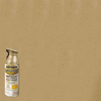 11 oz. All Surface Metallic Matte Sunlit Brass Spray Paint and Primer in One