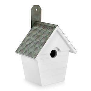 Classic Cottage Bird House Verdigris Pure Copper Roof