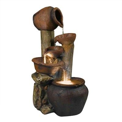 Pentole Pot Outdoor/Indoor Fountain with Illumination