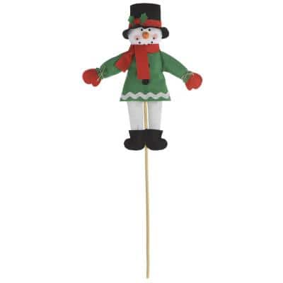 Friendly Snowman 25 in. Christmas Yard Sign (4-Pack)