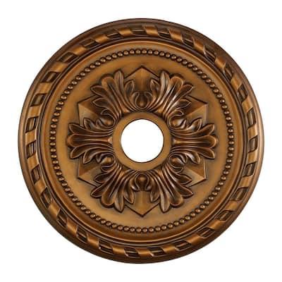 Corinthian 22 in. Antique Bronze Ceiling Medallion