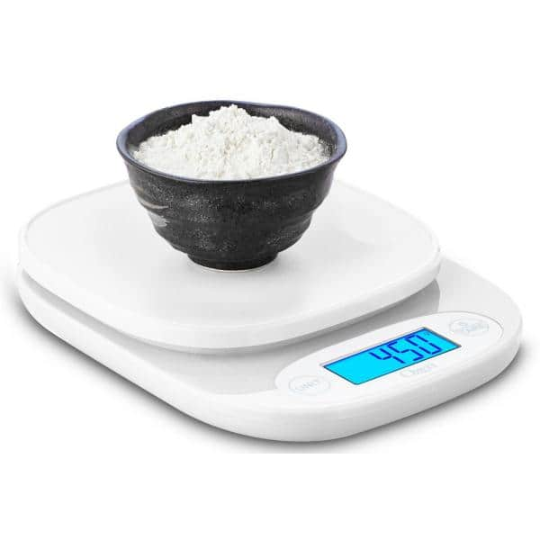 Ozeri Garden And Kitchen Scale With 0 5 G 0 01 Oz Precision Weighing Technology Zk24 W The Home Depot