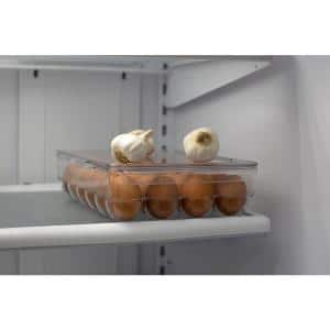 Stackable 24-Piece Compartment BPA Free Plastic Extra Large Egg Holder Storage Tray with Lid, Clear