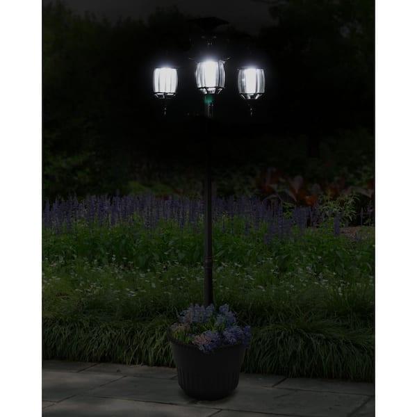 LED Solar Lampion 3er Set mit je 2 LEDs außen Blachere JFS042