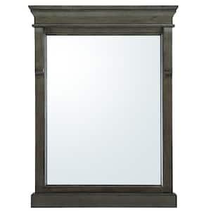 23.5 in. W x 32 in. H Framed Rectangular  Bathroom Vanity Mirror in Distressed Grey