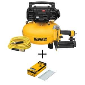 6 Gal. 18-Gauge Brad Nailer and Heavy-Duty Pancake Electric Air Compressor Combo Kit (1-Tool) with 2 in. x 18-GA Brads