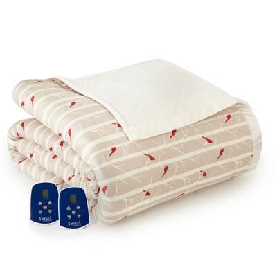 Full Cardinals Electric Heated Comforter/Blanket
