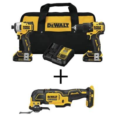 ATOMIC 20-Volt MAX Cordless Brushless Hammer Drill/Impact Combo Kit (2-Tool) with ATOMIC Brushless Oscillating Tool