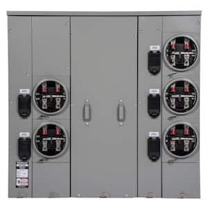 Uni-PAK 5-Gang 600 Amp Ringless Style Multi-Family Metering