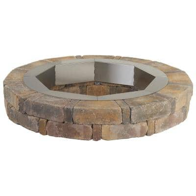 RumbleStone 46 in. x 7 in. Round Concrete Burn Pit Kit in Sierra Blend with Round Steel Insert