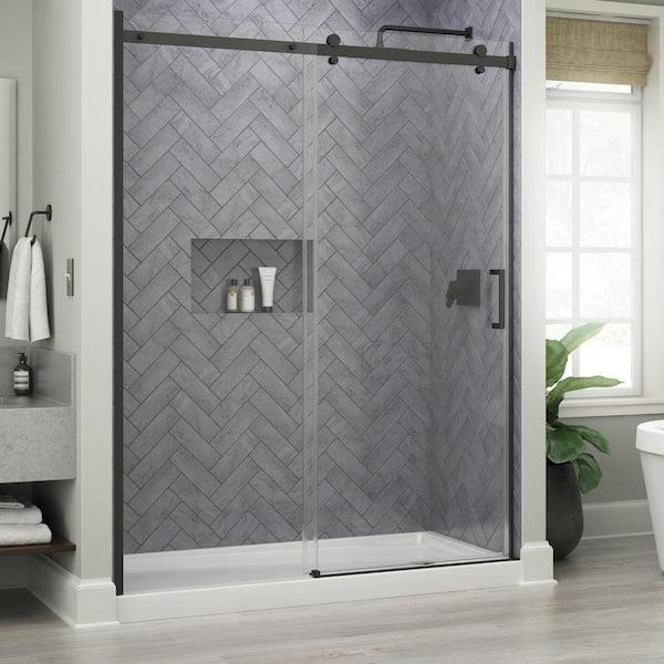 X 76 In Frameless Sliding Shower Door, Bathroom Shower Doors Home Depot