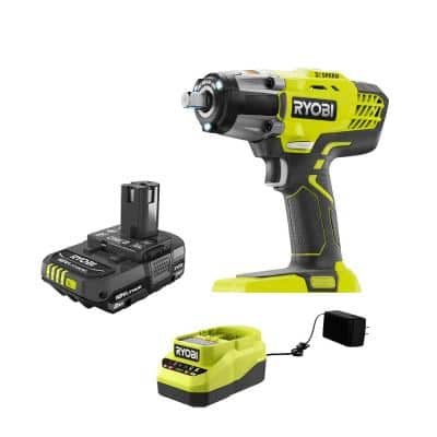 ONE+ 18V Cordless 3-Speed 1/2 in. Impact Wrench with 2.0 Ah Battery and Charger