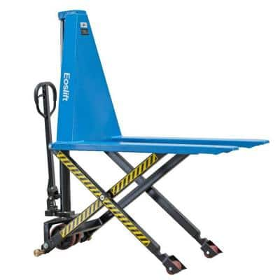 2200 lbs. Scissor Lift Pallet Truck with 27 in. x 45 in. Manual Pallet Truck German Seal System and Polyurethane Wheels