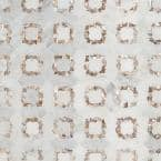 Veil Ana White 13.8 in. x 13.8 in. Polished Marble Mosaic Tile (1.32 sq. ft./Each)