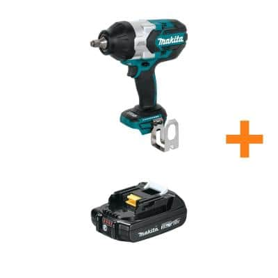 Makita 18-Volt LXT Brushless High-Torque 1/2 in. Sq. Drive Impact Wrench (Tool-Only) with Bonus 18-Volt LXT Compact 2.0Ah Battery