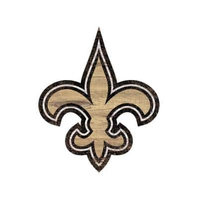 NFL Indoor New Orleans Saints Distressed Logo Cutout Wood Sign