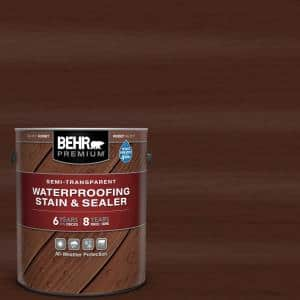 1 gal. #ST-117 Russet Semi-Transparent Waterproofing Exterior Wood Stain and Sealer