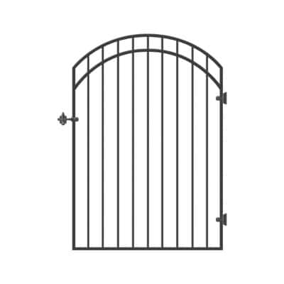 45 in. x 68 in. Garnet Gate Door with Arched External Rail for 48 in. Openings (Hardware Included)
