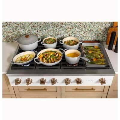 48 in. Gas Cooktop in Stainless Steel with 6 Burners