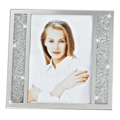 Lucerne Crystalized Glass 8 in. x 10 in. Photo Frame