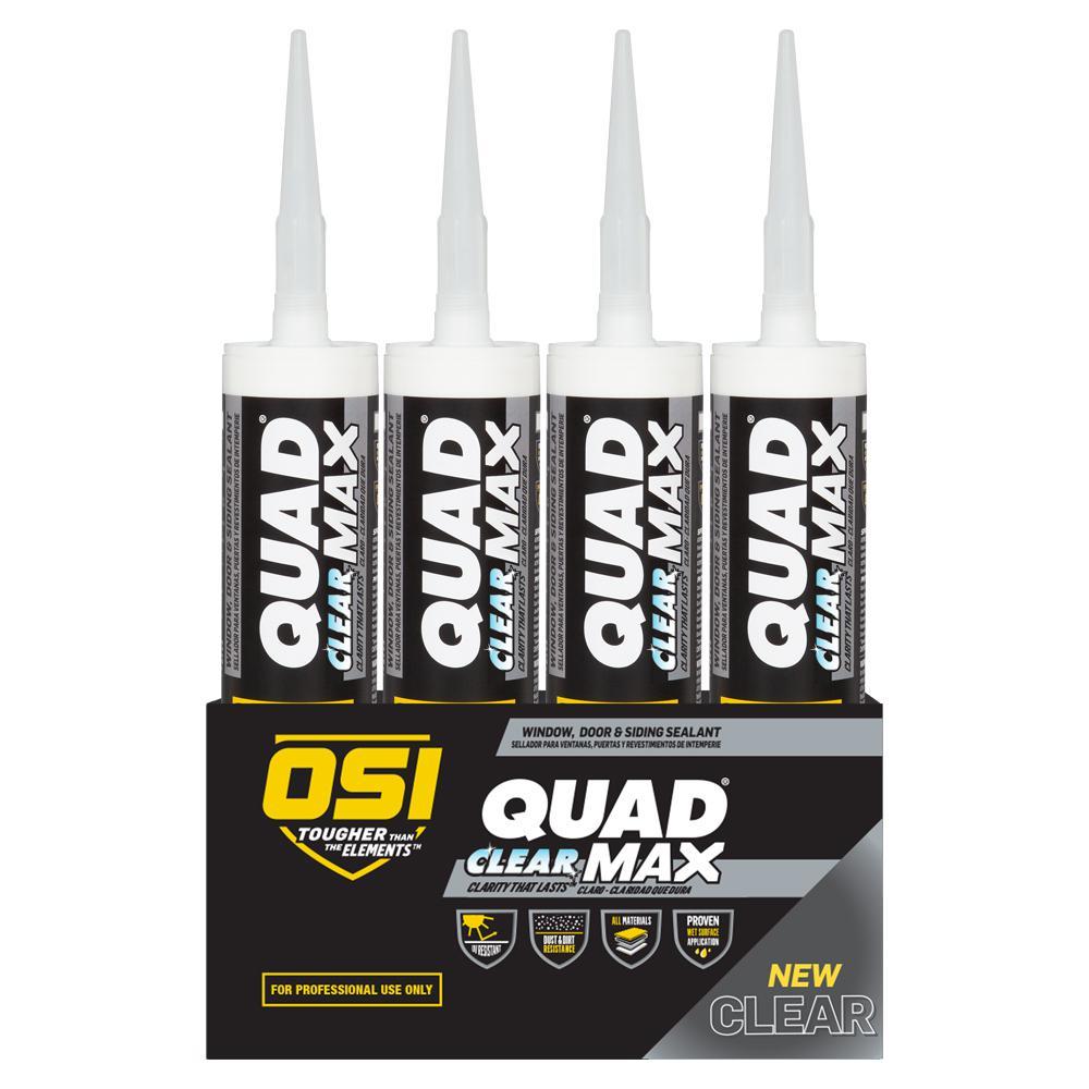 Quad Max 9 fl. oz Clear Exterior/Interior Window, Door, and Siding Sealant (12-Pack)