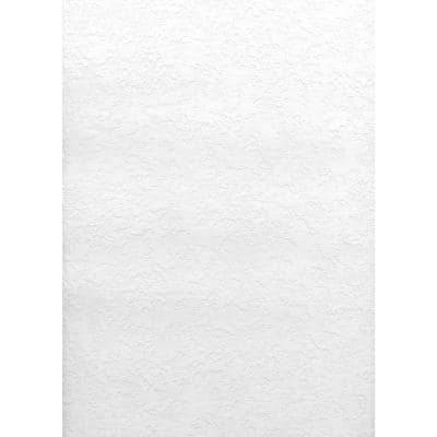 Paintable Knock Down Plaster Texture Vinyl Pre-Pasted Wallpaper Roll (Covers 56.4 Sq. Ft.)