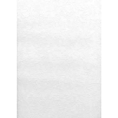 Paintable Knock Down Plaster Texture White & Off-White Wallpaper Sample