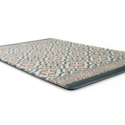 Blue 18 in. x 30 in. Kitchen Durable Anti Fatigue Standing Mat