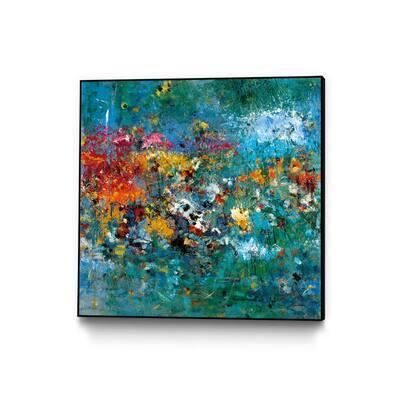 """30 in. x 30 in. """"Carpe Diem 1"""" by Diane Lambin Framed Wall Art"""