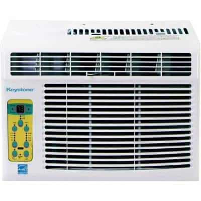 Energy Star 5,000 BTU Window-Mounted Air Conditioner with Follow Me LCD Remote Control in White, KSTAW05CE