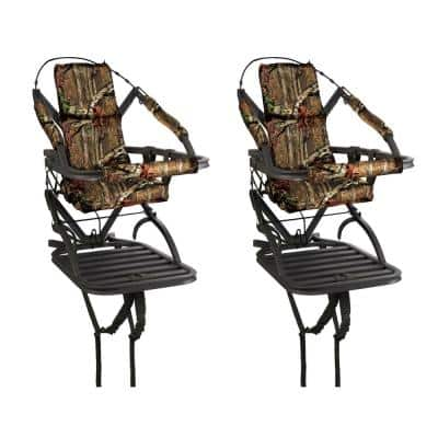 Titan Self Climbing Portable Treestand Bow and Rifle Deer Hunting (2-Pack)