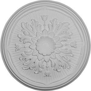 15-3/4'' x 5/8'' Lupton Urethane Ceiling Medallion (Fits Canopies upto 1-1/8''), Primed White