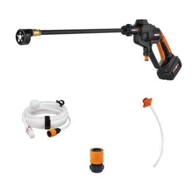 POWER SHARE 20-Volt 320 PSI 0.53 GPM Hydroshot Cordless Portable Pressure Washer, 4 Ah Battery and Charger Included