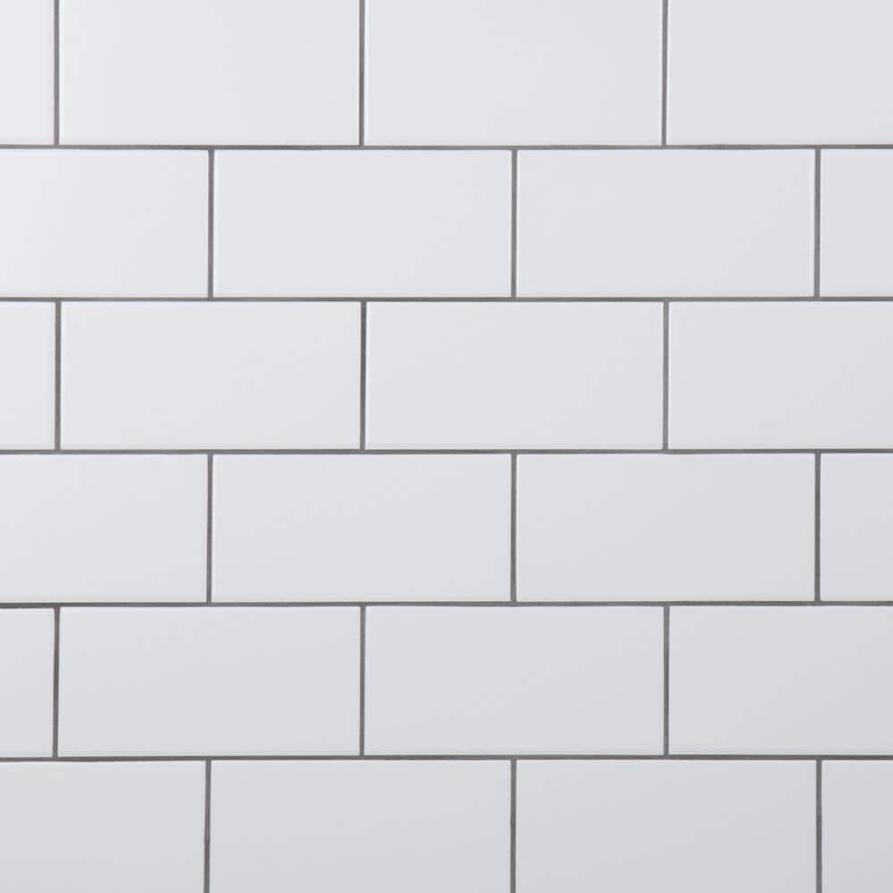 Merola Tile Crown Heights 3 In X 6 In Ceramic Matte White Wall Tile 170 Cases 1025 10 Sq Ft Pallet Web3chmw The Home Depot