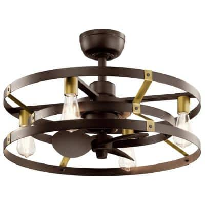 Caged Ceiling Fans With Lights Ceiling Fans The Home Depot