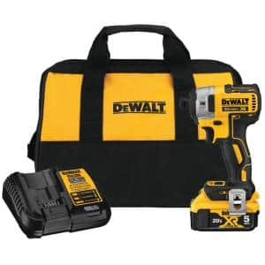 20-Volt MAX XR Cordless Brushless 3-Speed 1/4 in. Impact Driver with (1) 20-Volt 5.0Ah Battery & Charger