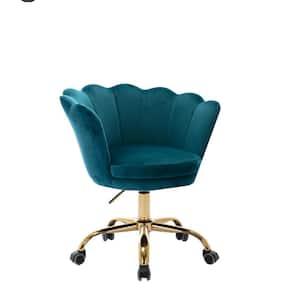 Toombs 26 in. Green Velvet Adjustable Height Swivel Task Chairs Armless