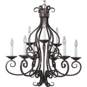 Manor 9-Light Oil-Rubbed Bronze Chandelier