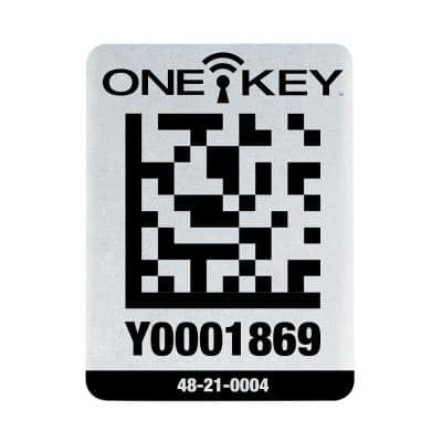 Large ONE-KEY Asset ID Tags For Metal Surfaces (25-Tags)