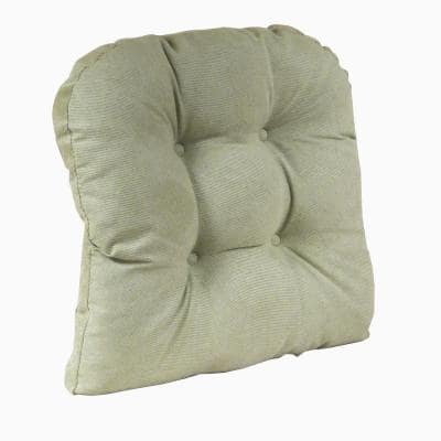 Gripper Non-Slip 17 in. x 17 in. Twillo Thyme Tufted Universal Chair Cushions