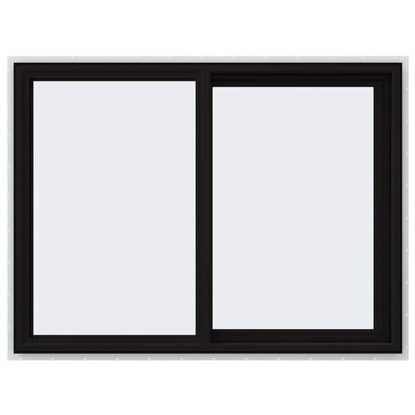 Jeld Wen 48 In X 36 In V 4500 Series Black Finishield Vinyl Right Handed Sliding Window With Fiberglass Mesh Screen Thdjw140400171 The Home Depot